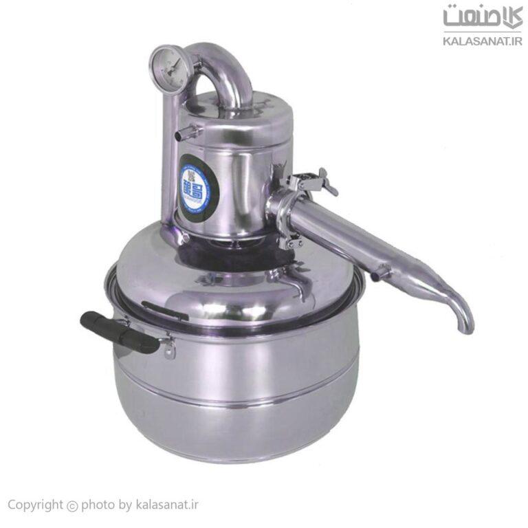 دستگاه تقطیر عرقیات ۱۵ لیتری تمام استیل